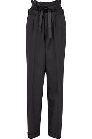 1/OFF Paris Women Tapered - Panelled pinstriped tapered trousers