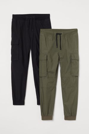 H&M Kids Cargo Pants - 2-pack Cargo Joggers