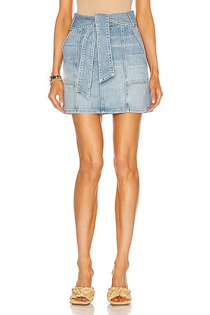 JONATHAN SIMKHAI Women Mini Skirts - Kennie Mini Skirt in Denim-Light