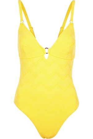 Melissa Odabash Women Swimsuits - Havana zigzag-jacquard swimsuit