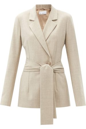 Raey Women Suits - Belted Wool-blend Suit Jacket - Womens