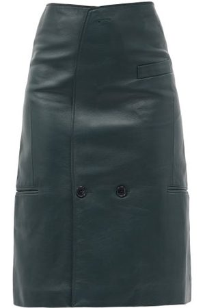 Vetements Tailored Leather Pencil Skirt - Womens - Dark