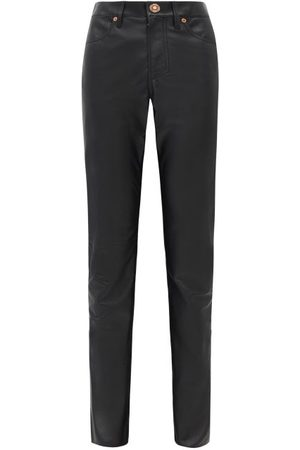 GABRIELA HEARST Charles Leather Straight-leg Trousers - Womens