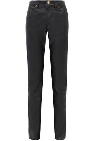 GABRIELA HEARST Women Leather Pants - Charles Leather Slim-leg Trousers - Womens