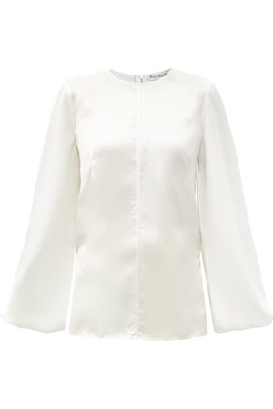 J.W.Anderson Balloon-sleeve Satin Blouse - Womens