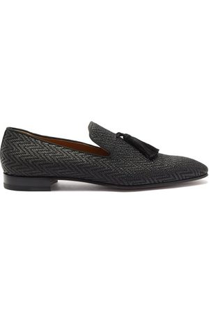 Christian Louboutin Men Loafers - Officialito Tassel Chevron-woven Loafers - Mens