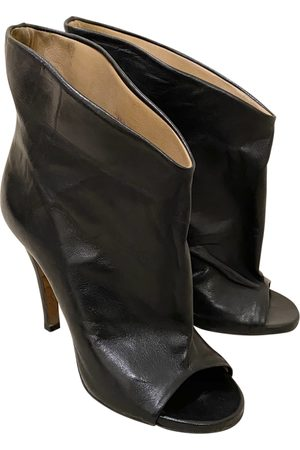 MM6 Leather ankle boots
