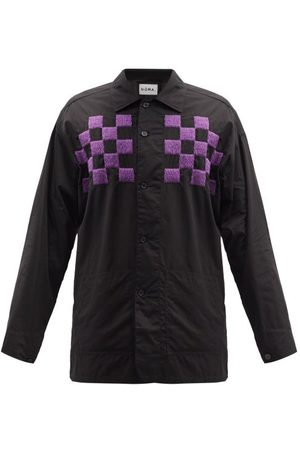 NOMA t.d. Checker Embroidered Cotton Jacket - Mens