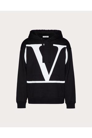VALENTINO Men Sweatshirts - Vlogo Signature Hooded Sweatshirt Man / Cotton 94% 3XL
