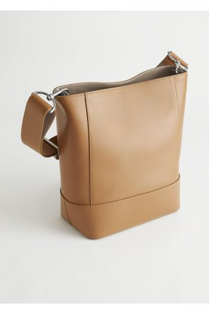 & OTHER STORIES Women Purses - Topstitched Leather Tote Bag