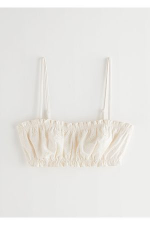& OTHER STORIES Women Bikinis - Eyelet Embroidered Bandeau Bikini Top