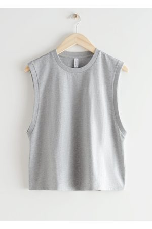 & OTHER STORIES Organic Cotton Tank Top - Grey