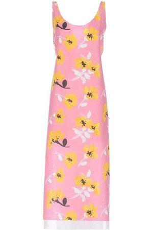 Marni Women Printed Dresses - Pink Sleeveless Floral Dress
