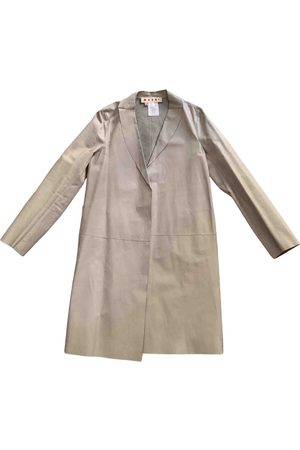 Marni Grey Leather Coats