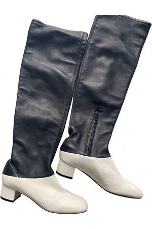 Céline Soft Ballerina Leather Boots for Women