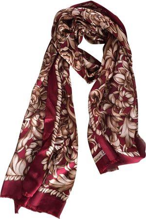 Dior Burgundy Silk Scarves
