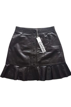 Ganni Women Leather Skirts - \N Leather Skirt for Women