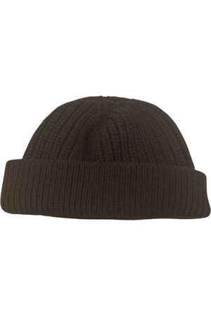 Lanvin Anthracite Wool Hats & Pull ON Hats