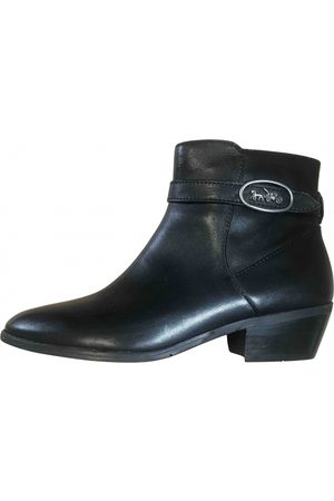 Coach \N Leather Ankle boots for Women