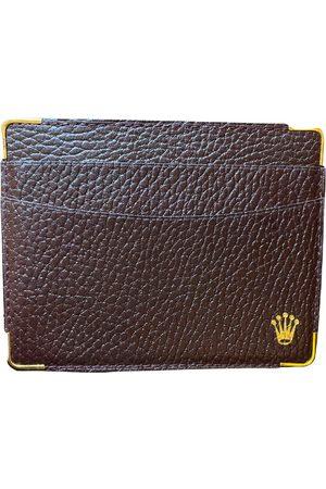 Rolex Men Wallets - \N Leather Small Bag, Wallet & cases for Men