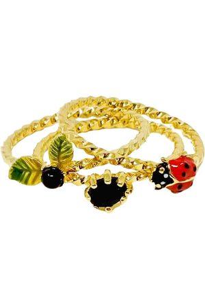 Les Néréides Multicolour Gold plated Rings