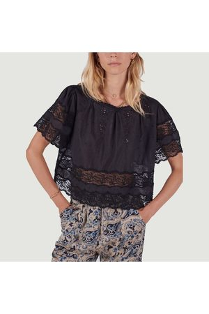 Swildens Denver short sleeve blouse NOIR