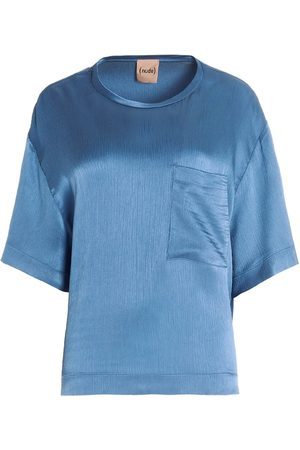 NUDE Women Blouses - WOMEN'S 1103508116 LIGHT ACETATE BLOUSE