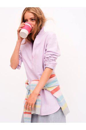 NRBY Chrissie linen cross dyed shirt