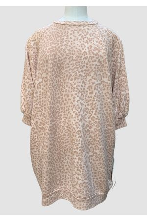 Ragdoll LA Super Oversized Sweatshirt Blush Leopard