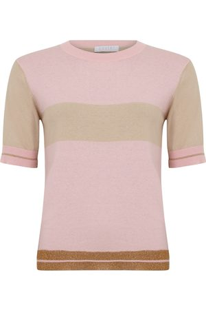 Coster Copenhagen Short Sleeve Lurex Rib Knit - Persian