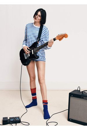 BELLA FREUD Blue Striped Long-Sleeved T-Shirt