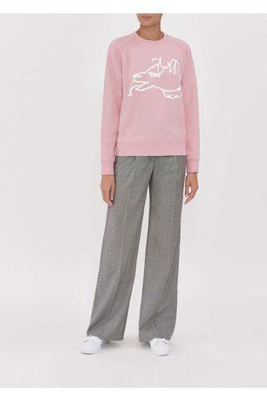 BELLA FREUD Big Dog Pink Sweatshirt
