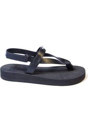 Giuseppe Zanotti Women Flip Flops - WOMEN'S E100026001 LEATHER FLIP FLOPS