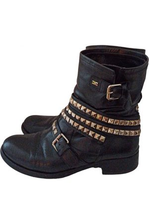 Elisabetta Franchi \N Leather Ankle boots for Women