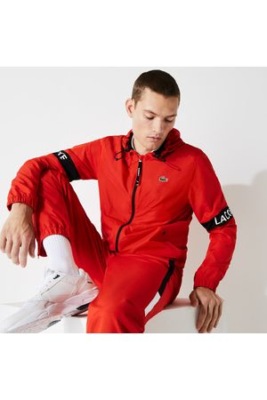 Lacoste Men's SPORT Water-Resistant Hooded Zip-Up Jacket - 58 - XL