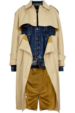 1/OFF Paris Wrangler X Yves Saint Laurent panelled trench coat