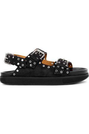 Isabel Marant Women Sandals - Ophie studded suede sandals