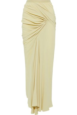 Rick Owens Women Maxi Skirts - Woman Seb Draped Crepe De Chine Maxi Skirt Pastel Size 40