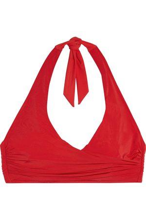 Heidi Klein Woman Body Wrap-effect Halterneck Bikini Top Size L