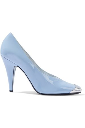 EMILIO PUCCI Woman Embellished Patent-leather Pumps Sky Size 37