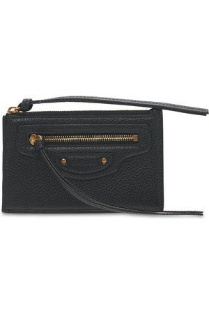 Balenciaga Grained Leather Card Holder