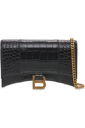 BALENCIAGA Leather Hour Chain Wallet