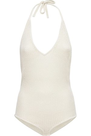 Bottega Veneta Fishnet Knit Halter Neck Bodysuit
