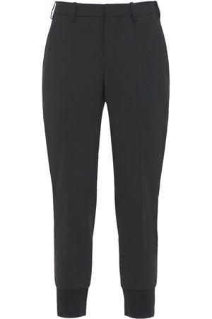 Neil Barrett Slim Stretch Wool Gabardine Blend Pants