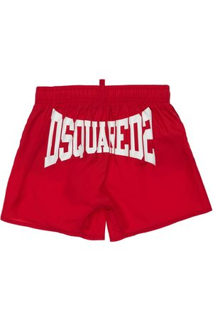 Dsquared2 Logo Print Nylon Swim Shorts