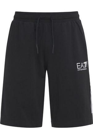 EA7 7 Lines Cotton Bermuda Shorts