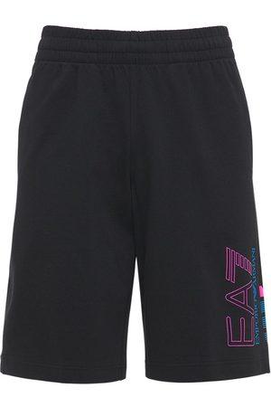 EA7 Eagle Cotton Bermuda Shorts