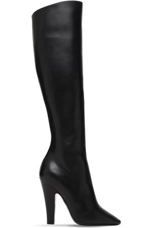 SAINT LAURENT 110mm 68 Tall Leather Boots