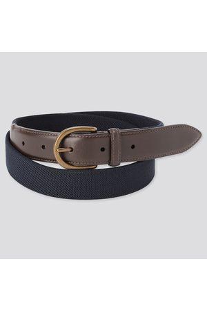UNIQLO Men's Leather Combination Stretch Belt, , M