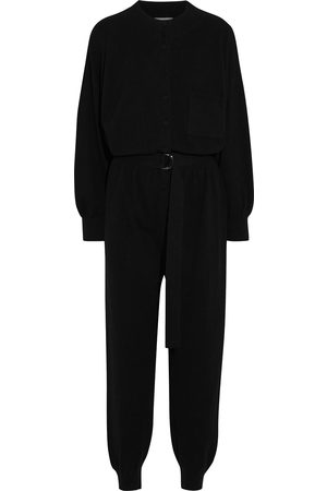 CORDOVA Woman Belted Wool Silk And Cashmere-blend Jumpsuit Size L